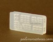 Chocolate Bar Miniature Clay Mold