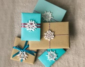 Mini animal snowflake Holiday gift tags and tree ornaments - Series 2