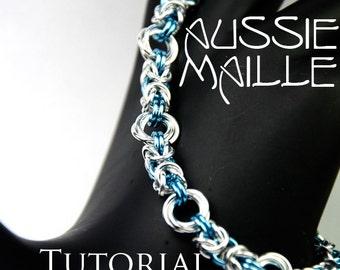 Chainmaille Tutorial - Byzantine Rose Bracelet PDF