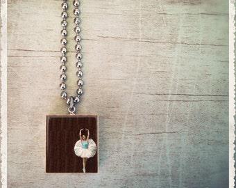 Scrabble Game Tile Jewelry - Ballerina Tiny Dancer - Scrabble Pendant Charm - Customize