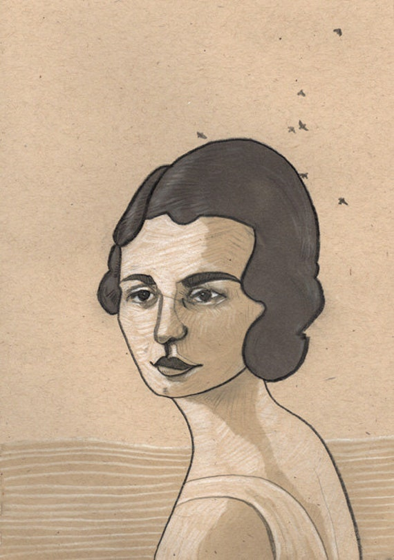 portrait giclee print 5x7