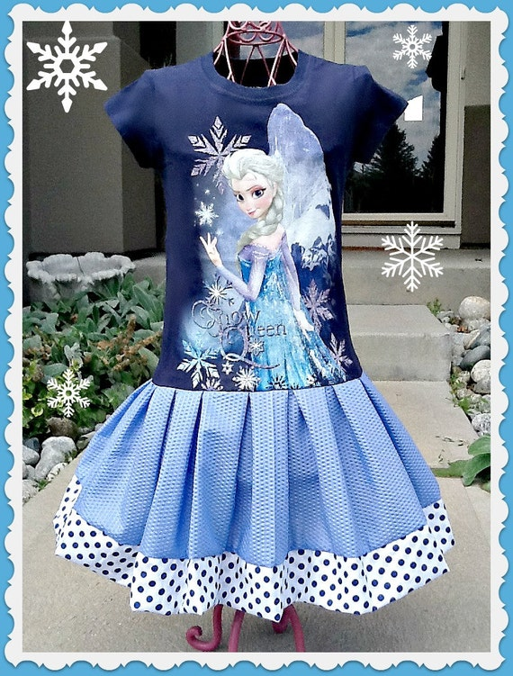 girls Frozen dress Queen Elsa 4/5 6/6X and 7/8 only ready to ship today