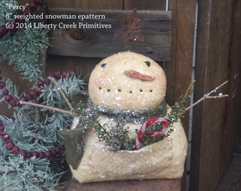 "Primitive Snowman ""Percy"" Epattern Instant Download!"