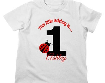 Ladybug Birthday Shirt or Bodysuit - Personalized Sibling Shirt