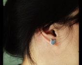 Hand Drawn Line Chevron Post Earrings Studs