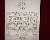 Luminarias Love Bird (25) Papel Picado Wedding Personalized  - Luminaries Candle bags