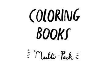 Coloring books, multi pack