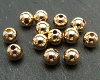 Gold Filled Plain Bead 5mm (CG6137)