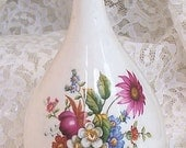 Pink Ludlow Bud Vase by Coalport China England Spring Flower Garden Bouquet Vintage 1980s Totally 80s English Designer Chic Shabby Gift