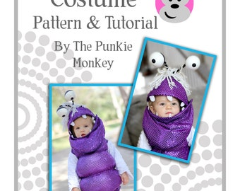 boo monster costume pattern tutorial monsters inc toddler sizes 12 - Monster Inc Halloween Costumes Boo