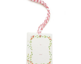 SALE - Floral Wreath Gift Tags