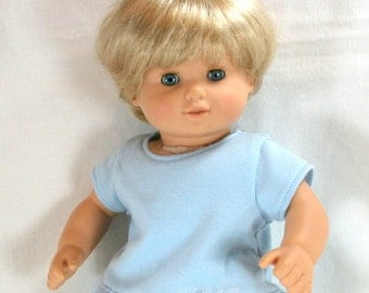 "Light blue shirt for 15"" dolls such as Bitty Baby or Bitty Twin"