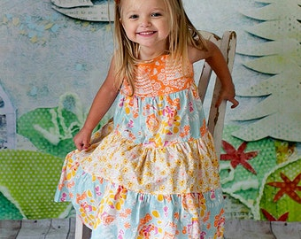 Fall Tiered Dress - Thanksgiving Dress