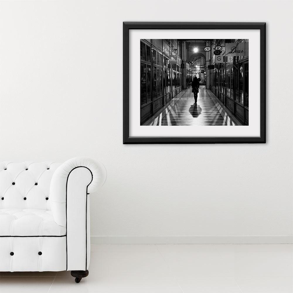 """Paris Print, Black and White Photography, """"Paris Noir 5"""" Extra Large Wall Art, Fine Art Print Paris Photography,  Film Noir"""