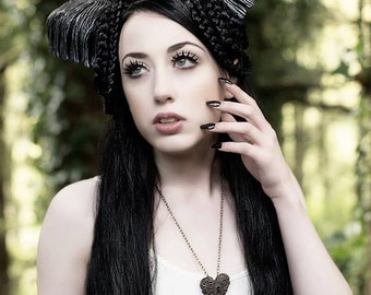 Daughter of Pan Horned Nymph Headdress