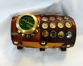 Steampunk Airship Crew Typewriter Key Leather Arm Guard or Bracer. - ProfessorMaelstromme