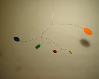 Modern Hanging Art Mobile Baby Nursery Decor Calder Style Retro Foam Wind
