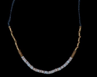 Brass and Shell Adjustable Necklace