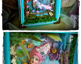 LaDy ALkOnSt  OOAK small anthropomorphic art doll/whimsical diorama by Wild Pearly