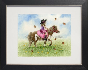 Pony Ride- an archival watercolor print by Tracy Lizotte