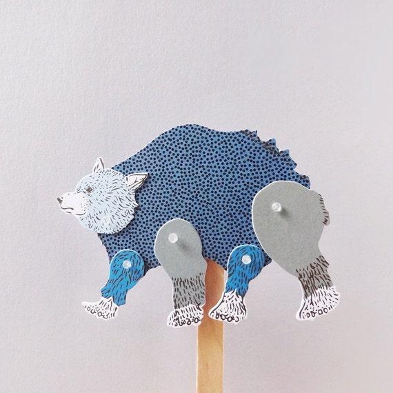DIY Paper Puppet - BEAR
