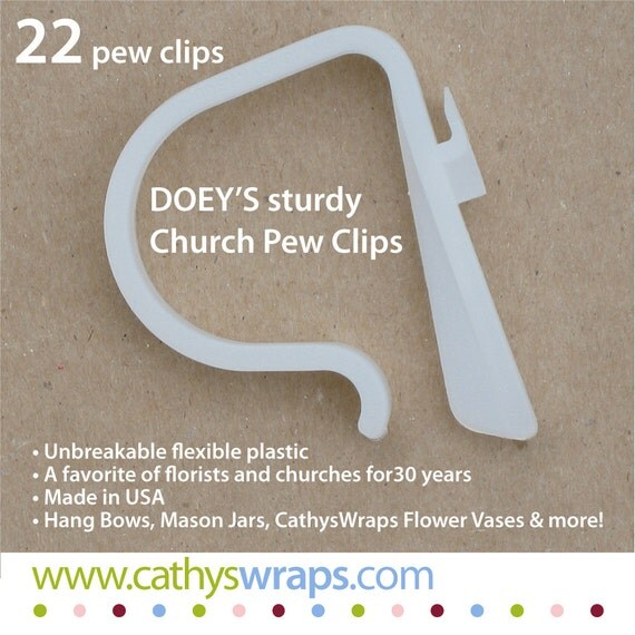 Doeys Pew Bow Clips Hold Heavy Wedding Ceremony Pew