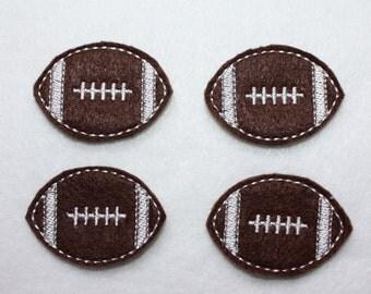 Football Felt Applique - Set of 4