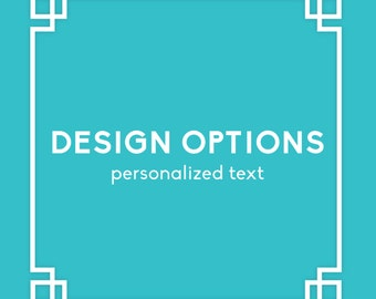 Design Change - Personalized Text for A la Carte Items