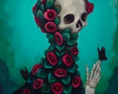 Living Things by Elizabeth Caffey. One of a kind oil painting on stretched canvas.