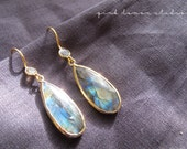 Gold Labradorite Earrings