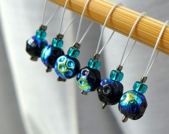 LAST SETS - Broadcasts from Gemini  - Doctor Who Series - Six Snag Free Stitch Markers - Fits Up To 5.5 mm (9 US) - Limited Edition