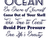 Ocean Blue Quote Printable Instant Download