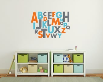 Alphabet Letters, Wall Letters, Alphabet Wall Decals, Large Wall Letters  For Nursery,