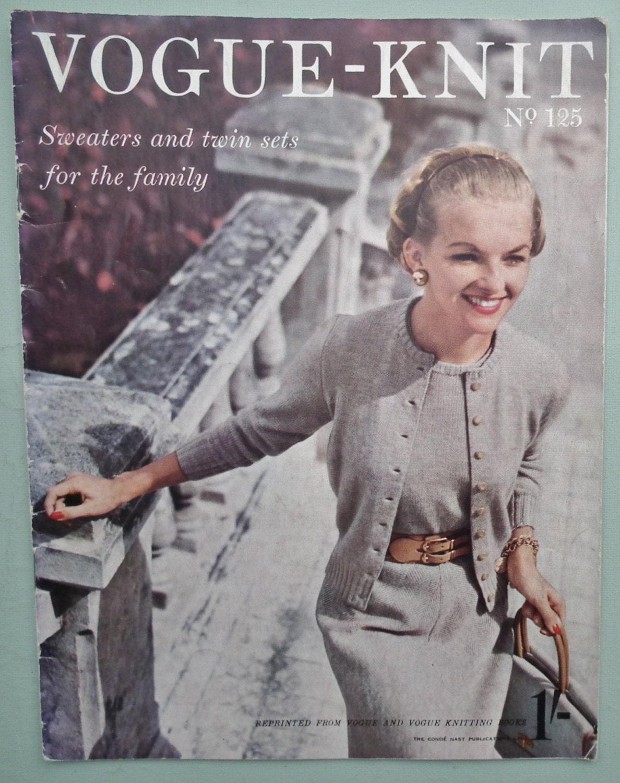 Free Vintage Vogue Knitting Patterns : Vogue Knitting Patterns Vintage 1950s Vogue-Knit No. 125