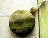 Connemara Marble Pendant. Handmade in Ireland. Inis