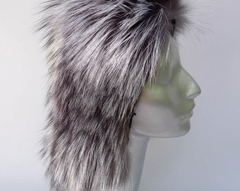 Silver Fox Fur Sewn Pelt for Hats and Clothing