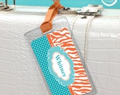 2 FOR 1 SALE -- Luggage Tags -Zebra & Dots