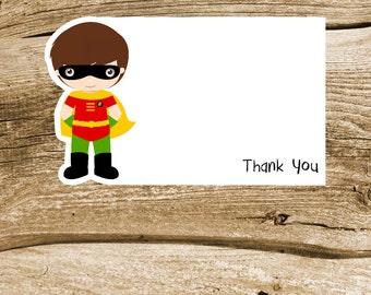Superhero Friends Party Collection - Set of 8 Robin Thank You Cards by The Birthday House