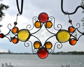 Warm Tone Jewels Stained Glass Suncatcher