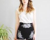 Sabina - Black Ultra High Waisted Jersey Shorts - By Simka Sol