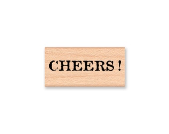CHEERS-wood mounted rubber stamp-(32-28)