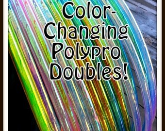 "Color Changing Polypro DOUBLES! Available in 3/4"" OR iN 5/8"" THiN! Free Inside Grip Option. Choose Colors in Notes to Seller."