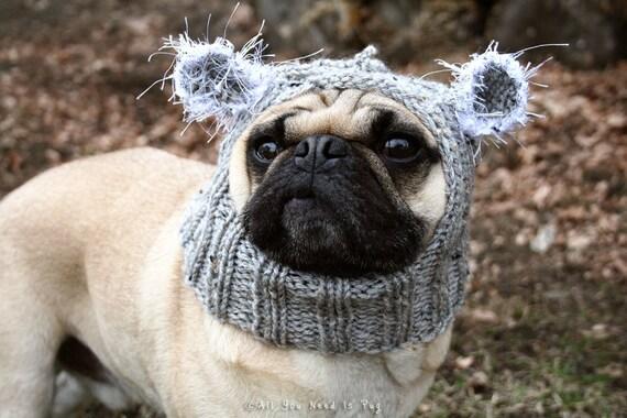 Baby Koala Dog Hat - Pug Hat - Pug Hats - Dog Clothing - Pet Cloting - Dog Costume - Dog Hats