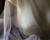 2 yds. Soft English Tulle Net Taupe Champagne for Lyrical Dance, Bridal, Gowns, Veils, Birdcage Veils, Garters, Hats