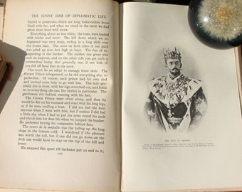 Antique The Sunny Side Of Diplomatic Life L de Hegermann Lindencrone Harper & Brothers kings queens court life series of letters boho book