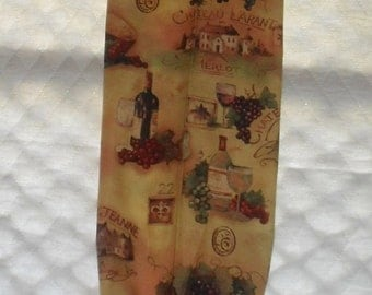 Wine Design Fabric Plastic Grocery Bag Holder