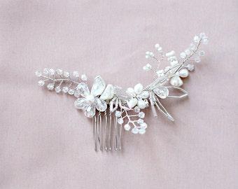 SALE Midnight Hair Comb Bridal