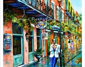 Jazz'n - New Orleans Painting, French Quarter Art, Jazz Painting, Music Art, Limited Edition Print,Signed & Numbered, by New Orleans Artist