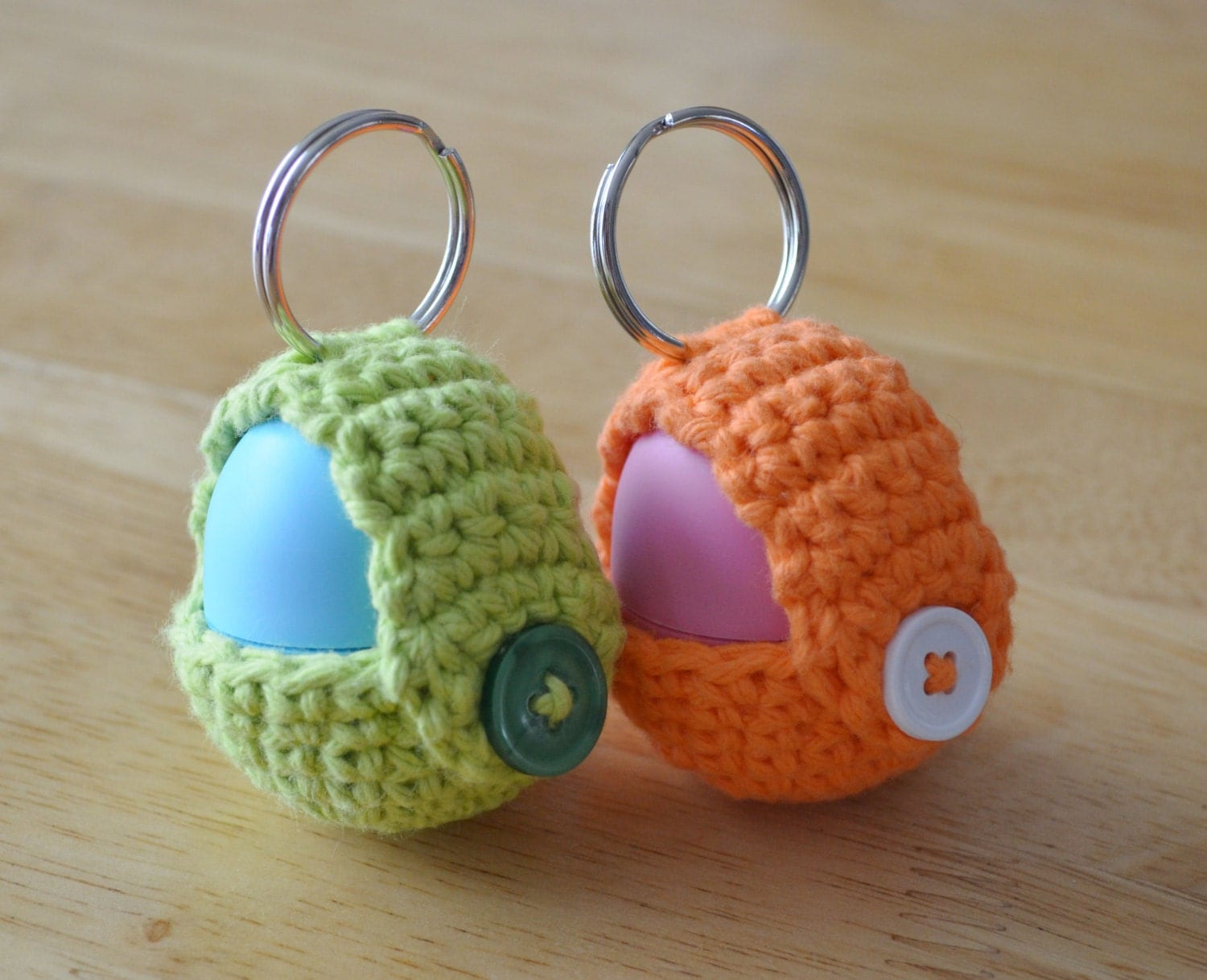 Crochet Patterns Keychain : Crochet Pattern Keychain EOS Lip Balm Holder by Nell22 on Etsy