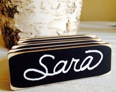 100 Rectangle Chalkboard Name Tags, Magnetic Name Tags, Name Tags for Corporate Event and Meetings
